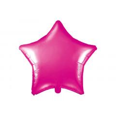 Ballon hélium forme coeur fuchsia