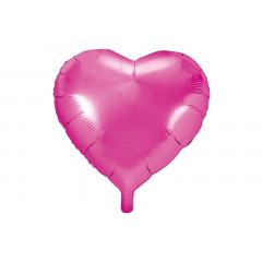 ballon hélium coeur rose foncé