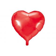 Ballon hélium forme coeur rouge 45 cm