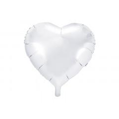 Ballon hélium forme coeur Blanc 45 cm