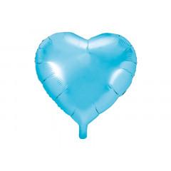 ballon hélium coeur bleu ciel