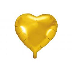 ballon hélium coeur or