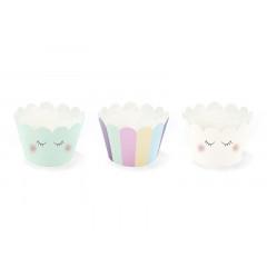 6 caissettes à cupcakes licorne