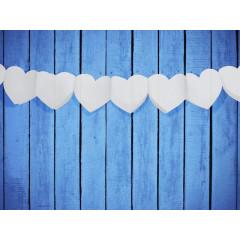 Guirlande accordéon – cœur blanc