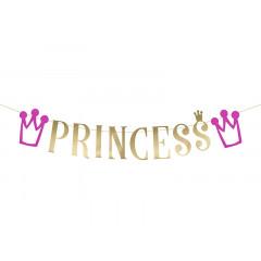 guirlande princesse or et violet