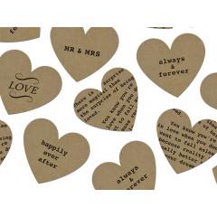 confettis coeurs thème amour