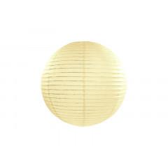 Boule en papier crème 25 cm