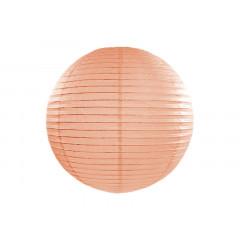 Boule en papier pêche clair 35 cm