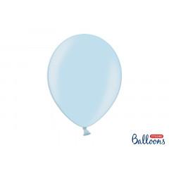 10 ballons 27 cm – bleu ciel métallisé
