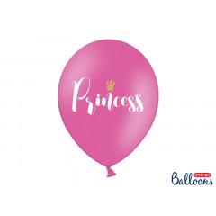 6 ballons princesse fuchsia