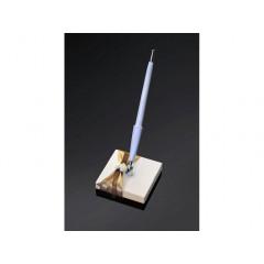 Socle stylo ruban or