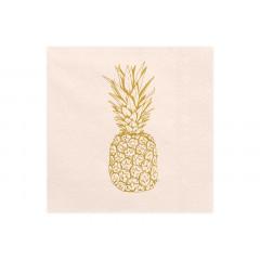 20 serviettes jetables ananas
