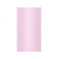 Rouleau de tulle - rose clair - 80 cm x 9 m