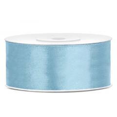 Ruban satin bleu ciel clair – 25 mm x 25m