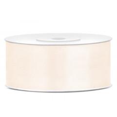 Ruban satin crème clair – 25 mm x 25m