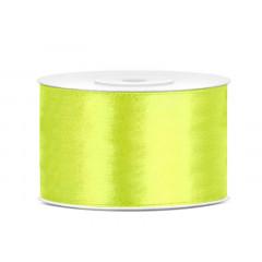 Ruban satin 38 mm - vert néon