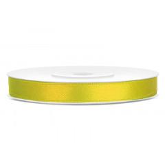 Ruban satin 6 mm - jaune foncé