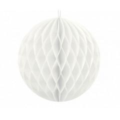 Boule chinoise alvéolée blanche - 10 cm