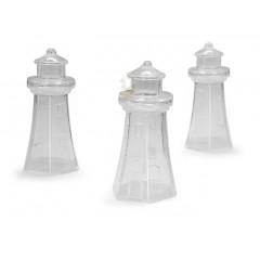 3 Contenants dragées phare en plexi