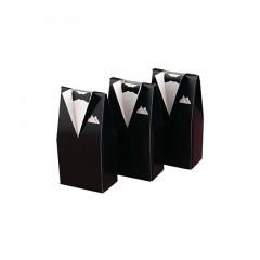 10 Boîtes à dragées costume homme 5 cm x 3 cm x 9,5 cm