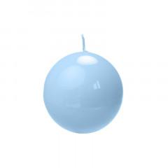 Bougie ronde laquée bleu ciel - 6 cm Ø