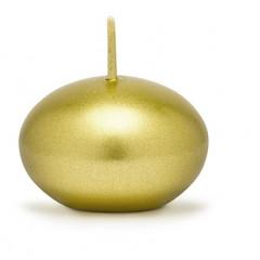 Bougie ronde métallisée or 4 cm