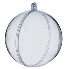 10 boules plexi transparentes 7cm