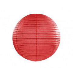 Boule en papier rouge 25 cm