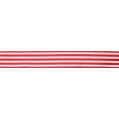 Ruban rouge et blanc à rayures