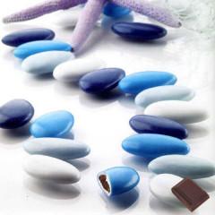 dragée chocolat variation bleu