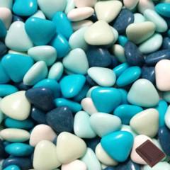 coeur chocolat variation bleu