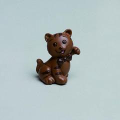 Lot de 2 figurines chatons chocolat