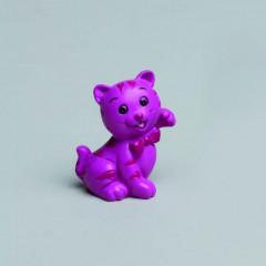 Lot de 2 figurines chatons fuchsia