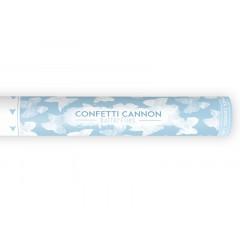 Canon confettis papillons blanc