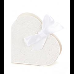 Boîtes à dragées coeur blanches