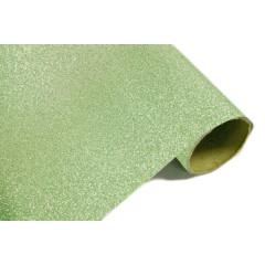 Chemin de table effet métal pailleté - menthe