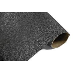 Chemin de table effet métal pailleté - noir