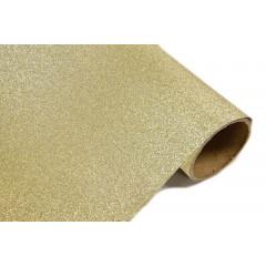 Chemin de table effet métal pailleté - or