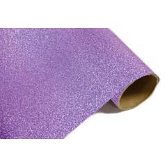 Chemin de table effet métal pailleté - parme