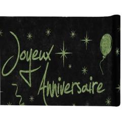 Nappe Joyeux Anniversaire - vert - 1