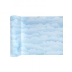 Chemin de table nuage bleu ciel 5m