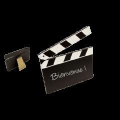 Marque-place - Ardoise clap de cinéma - GM