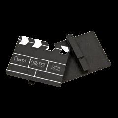 Marque-place - Clap de cinéma sur pince - x2
