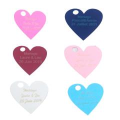 Étiquette personnalisée coeur