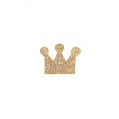 Confettis couronnes paillettes or x20 3,5 x 2,5 cm