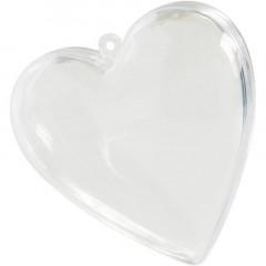 Boite dragées coeur en plexi