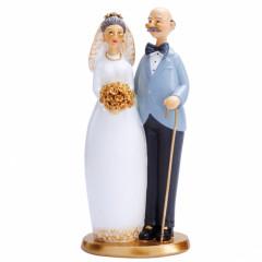 Couple mariés papy et mamy debout