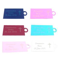 Étiquette personnalisée croix