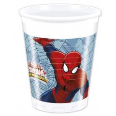 8 gobelets Spiderman Web Warriors