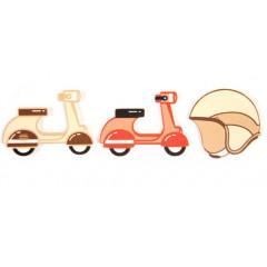 6 confettis scooter vintage